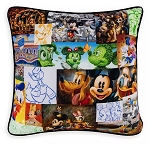 Disney Throw Pillow - Mickey Mouse and Friends Mosaic