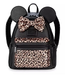 Disney Loungefly Backpack - Minnie Mouse Sequined - Belle Bronze
