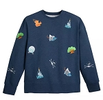 Disney Sweatshirt for Men - Disney World Embroidered Icons - Park Life