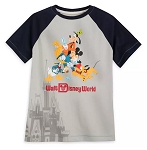 Disney T-Shirt for Boys - Mickey and Friends Raglan - Disney Park Life