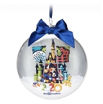 Disney Glass Disk Snow Globe Ornament - 2020 Mickey Mouse & Friends
