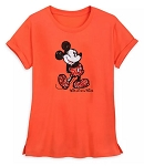 Disney Shirt for Women - Mickey Mouse Sequined - Coral