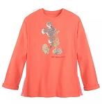 Disney Pullover for Women - Mickey Reversible Sequined - Coral