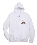Disney Adult Zip Up Hoodie - Seagulls - Finding Nemo - White