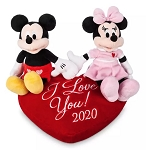 Disney Valentine's Day Plush - 2020 Mickey and Minnie Heart
