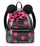 Disney Loungefly Backpack - Minnie Mouse Sequined Polka Dot