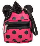 Disney Loungefly Backpack Wristlet - Minnie Mouse Sequined Polka Dot