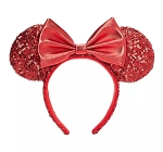 Disney Ears Headband - Minnie Mouse Sequined - Red