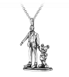 Disney Rebecca Hook Necklace - Walt Disney and Mickey - Partners
