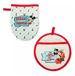 Disney Oven Mitt Set - Mickey and Minnie Mouse Retro