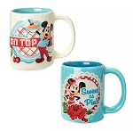 Disney Coffee Mug Set - Mickey and Minnie Mouse Retro