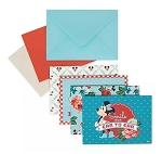 Disney Notecard Set - Mickey and Minnie Mouse Retro