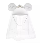 Disney Hat - Ears Hat - Minnie Mouse Bride - Happily Ever After
