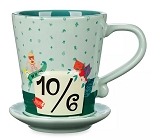 Disney Coffee Mug with Saucer - Mad Hatter - Alice in Wonderland