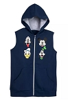 Disney Hoodie Vest for Boys - Fantastic 5 - Mickey & Friends - Blue