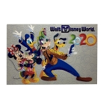 Disney Postcard - 2020 Mickey Mouse and Friends - Lenticular