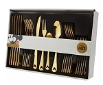Disney Flatware Set - Mickey Mouse Icon - 24 Pc - GOLD