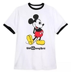 Disney Adult T-Shirt - Mickey Mouse Classic Ringer - White
