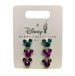 Disney Earrings Set - Mickey Mouse Gem Icons - Set of 3