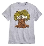 Disney T-Shirt for Adults - Animal Kingdom Tree of Life - Gray