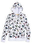 Disney Hoodie for Women - Fantastic 5 - Mickey & Friends - White