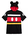 Disney Hooded T-Shirt for Men - Mickey Mouse Costume with Ears