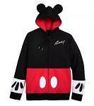 Disney Zip Hoodie for Men - Mickey Mouse Costume with Ears