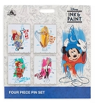 Disney Pin Set - Disney Ink & Paint - 4 Pins