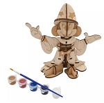 Disney Model and Paint Set - Ink & Paint - Sorcerer Mickey 3D - Wood