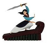Disney Medium Figure - Mulan - Brave and Defiant