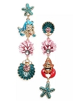 Disney Betsey Johnson Earrings - The Little Mermaid Dangle