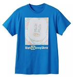 Disney Adult Shirt - Mickey Mouse Faded Color - Blue