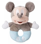 Disney Plush Rattle for Baby - Mickey Mouse - Blue