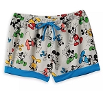 Disney Lounge Shorts for Women - Mickey Mouse All Over - Gray