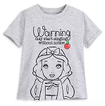 Disney T-Shirt for Girls - Snow White - Warning Notice
