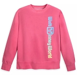 Disney Sweatshirt for Adults - Walt Disney World Logo Faded - Pink