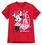 Disney T-Shirt for Girls - Minnie Mouse Cinderella Castle - Red