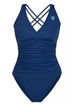 Disney Swimsuit for Women - Minnie Mouse Cross Back - Blue