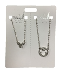 Disney Necklace Set - Mickey Mouse Icons - Silver - Set of 2