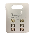 Disney Earrings Set - Minnie Mouse Bows - Rose Gold, Gold, Silver