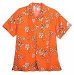 Disney Button Up Shirt for Men - 2020 Flower & Garden - Orange Bird