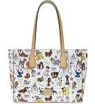 Disney Dooney & Bourke Bag - Disney Dogs Sketch - Tote