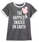 Disney Shirt for Women - Happiest Snacks on Earth - Gray