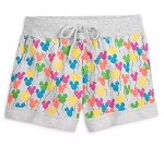 Disney Shorts for Women - Mickey Mouse Balloons - Gray