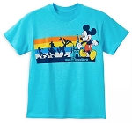 Disney Child Shirt - Mickey and Friends with Castle - Blue
