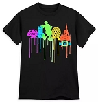 Disney Child Shirt - Mickey Mouse Park Icon Drip - Black