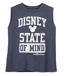 Disney Tank Top for Women - Disney State of Mind - Gray