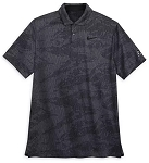 Disney Men's Nike Polo Shirt - Mickey Performance - Jacquard Charcoal