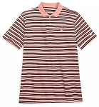Disney Men's Nike Polo Shirt - Mickey Performance - Striped Peach