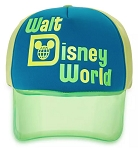 Disney Hat - Baseball Cap - Walt Disney World Neon Visor